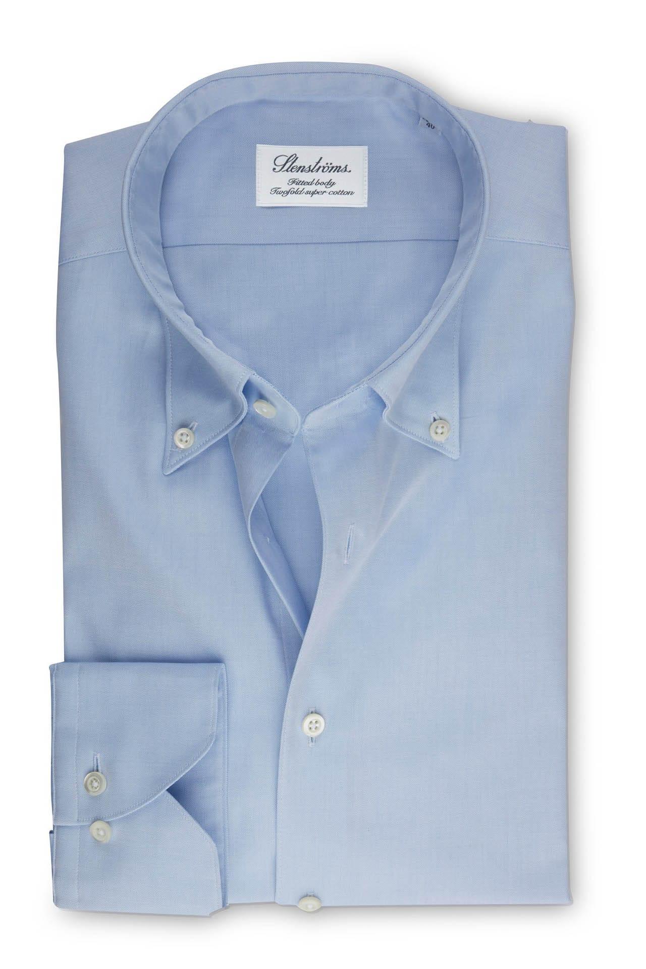 Stenströms Fitted Body Hemd hellblau, Einfarbig 40 - M