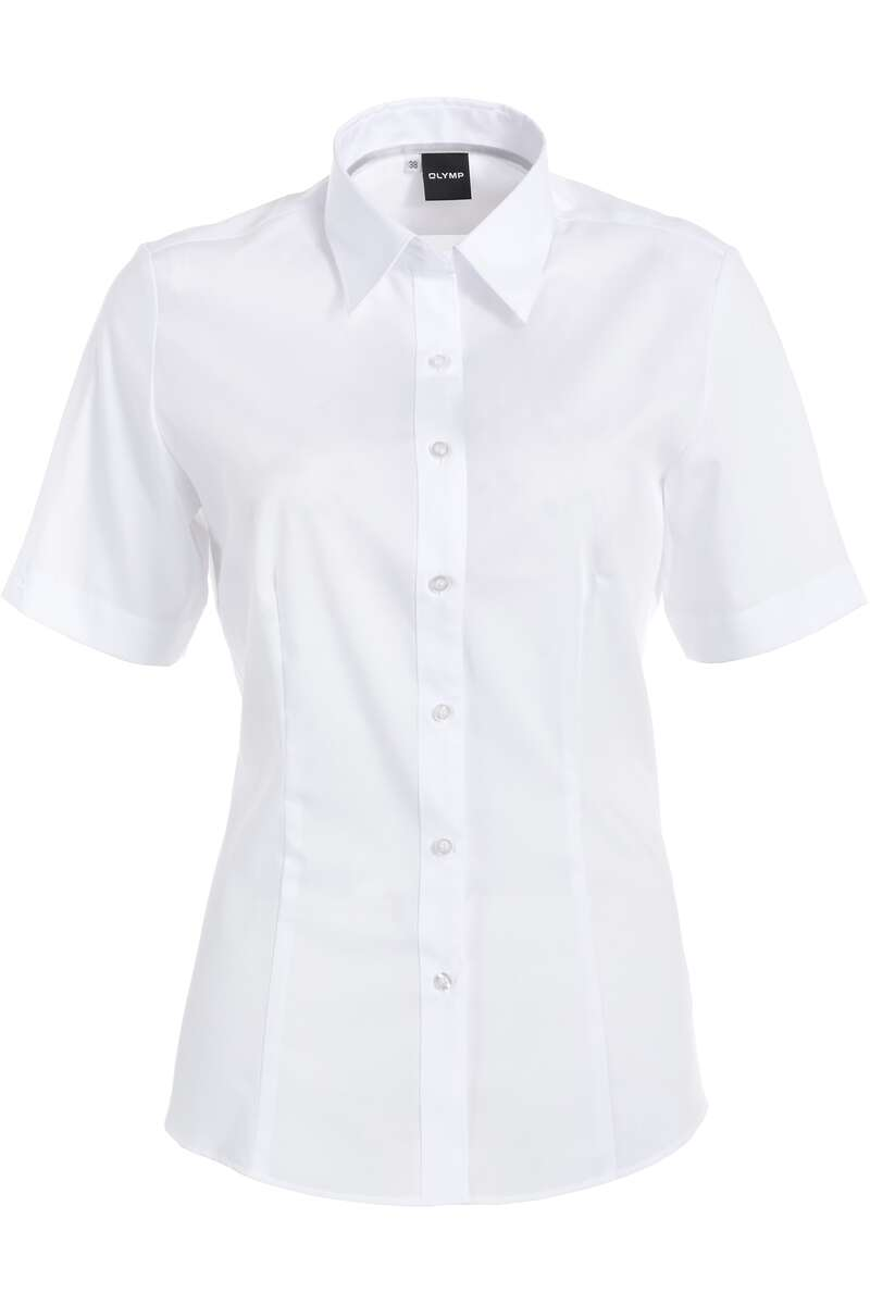 OLYMP Level Five Body Fit Bluse weiss, Einfarbig 34 - XS