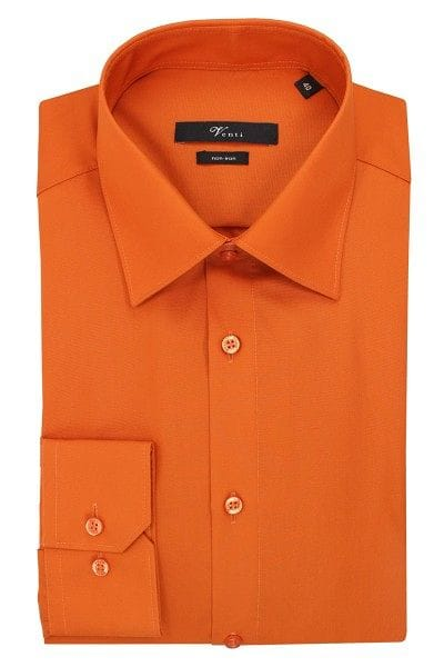 Venti Hemd - Modern Fit - orange, Einfarbig