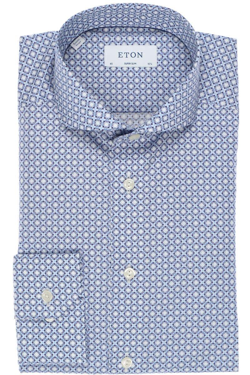 ETON Super Slim Hemd blau/weiss, Gemustert 40 - M