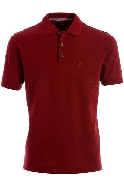 Olymp Modern Fit Poloshirt bordeaux, Einfarbig