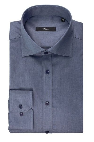 Venti Hemd - Slim Fit - jeans, Einfarbig