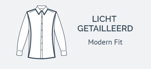 Wit Overhemd Modern Fit