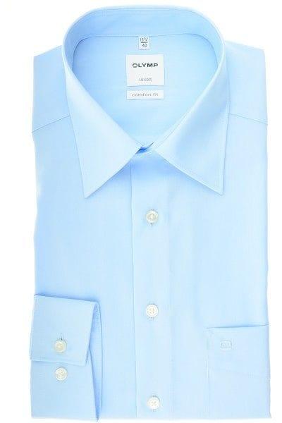 Olymp Hemd - Comfort Fit - bleu, Einfarbig