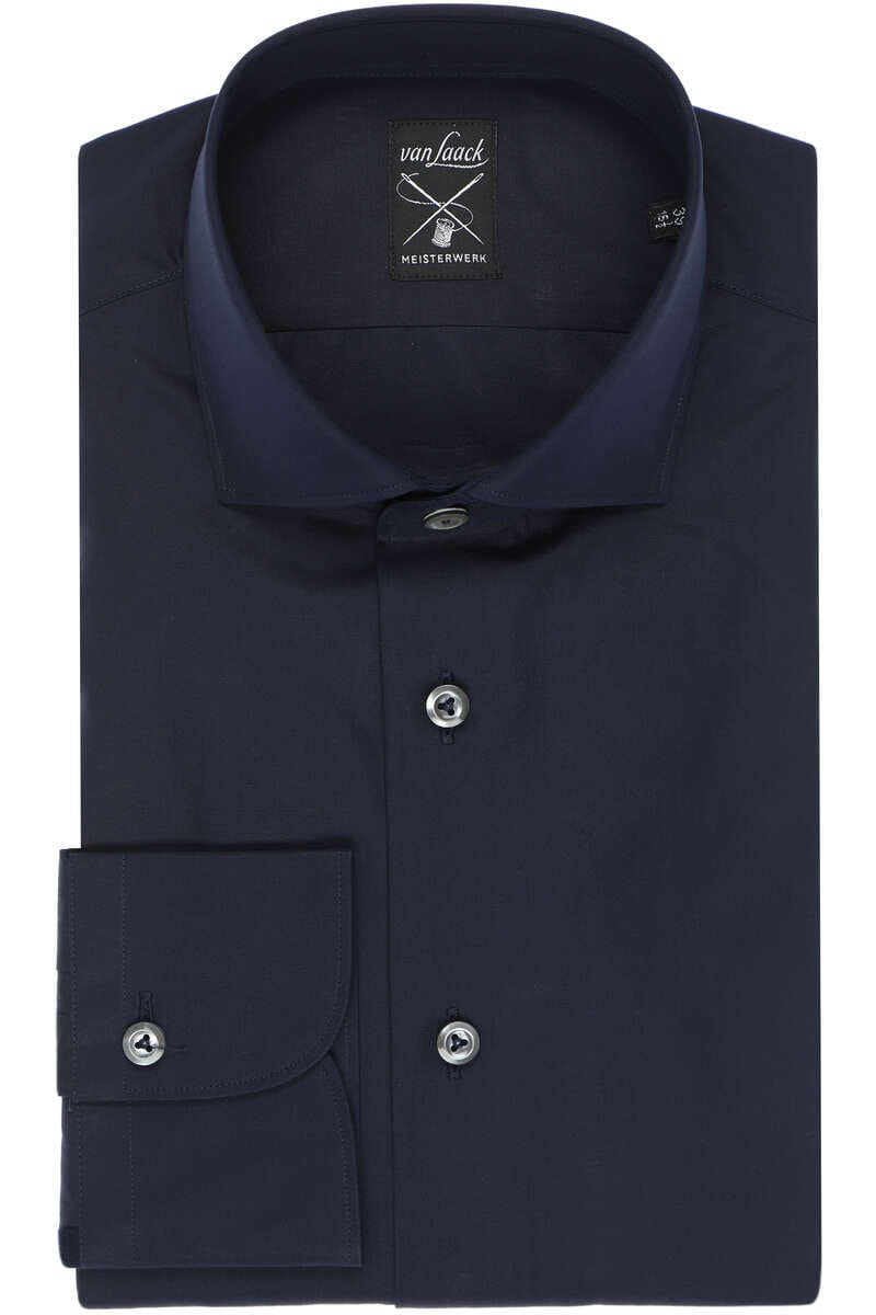 van Laack Hybrid Slim Fit Jerseyhemd navy, Einfarbig M