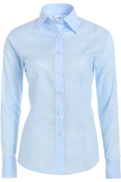 f0eb999b Olymp • Blouse in bleu, One Colour in Extra Easy Care ...
