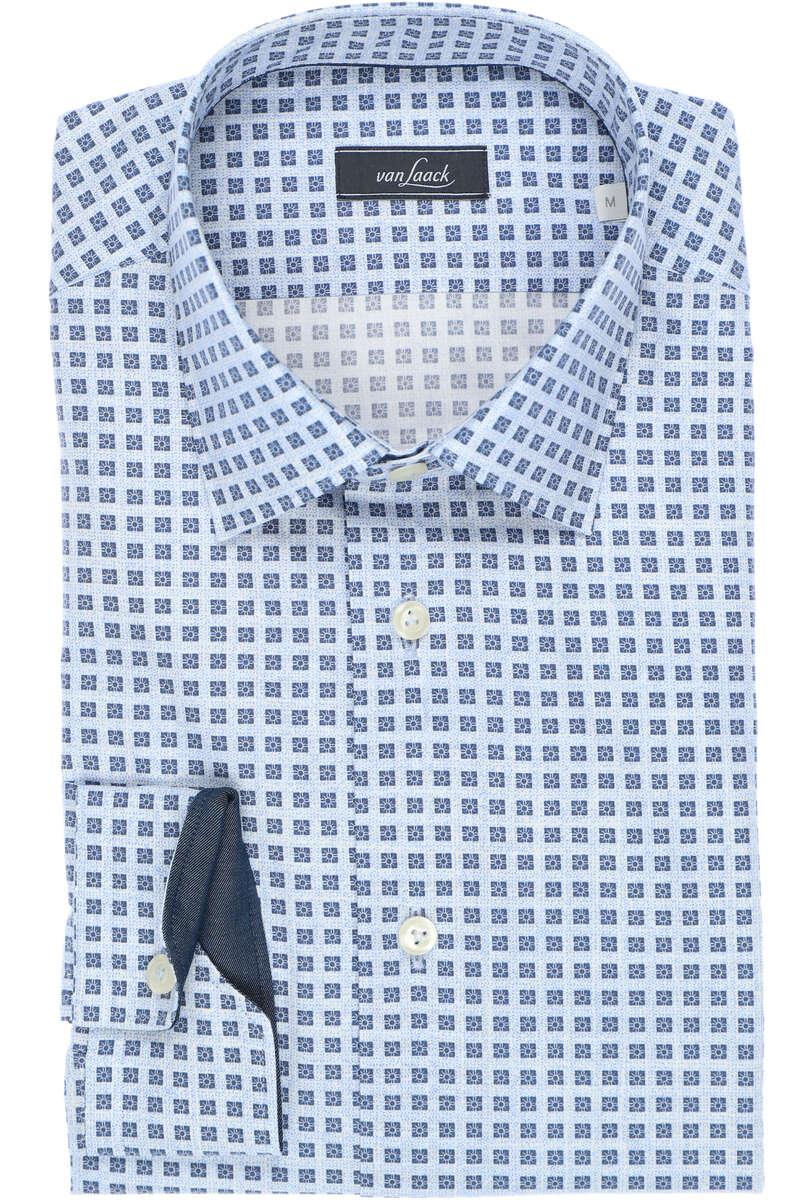 van Laack Tailor Fit Hemd blau/weiss, Gemustert 43 - XL