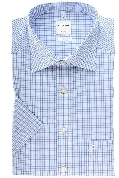 Olymp Luxor Comfort Fit Hemd blau/weiss, Kariert