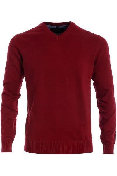 Marvelis Strick - V-Ausschnitt Pullover - pink