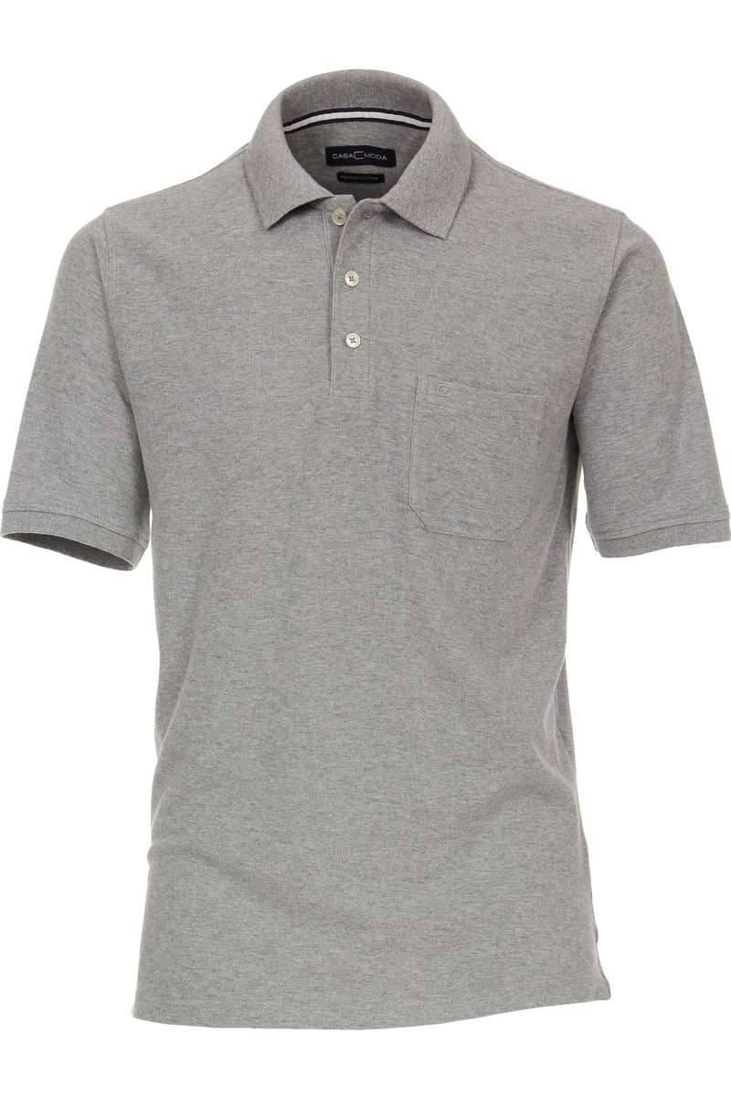 Casa Moda Poloshirt grau, Einfarbig