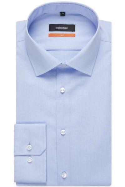 Seidensticker Hemd - Slim Fit - blau, Einfarbig