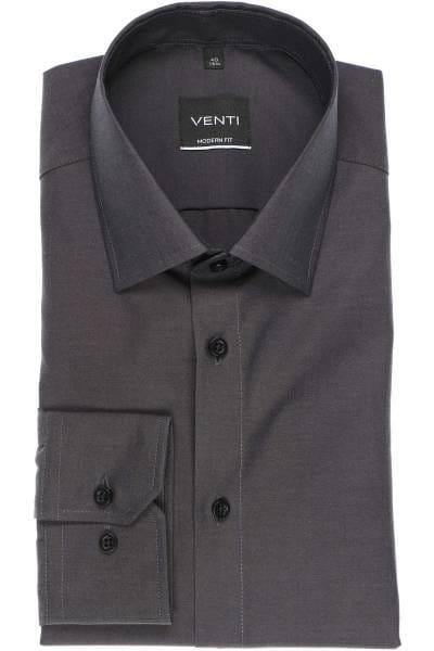 Venti Modern Fit Hemd anthrazit, Einfarbig