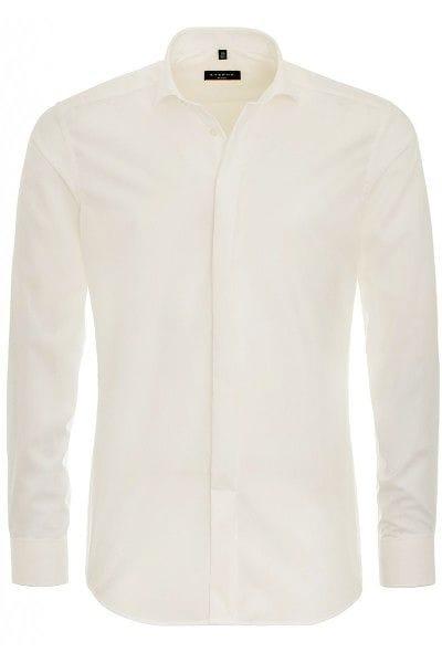 Eterna Hemd - Slim Fit - beige, Einfarbig