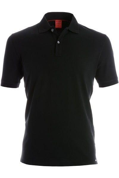 Olymp Poloshirt - Body Fit - schwarz, Einfarbig