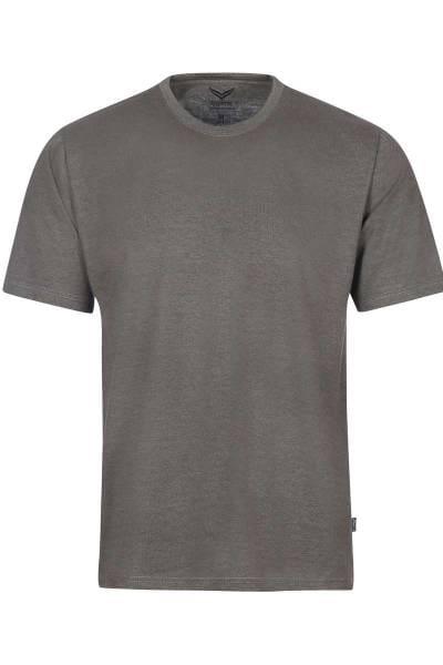 TRIGEMA T-Shirt Rundhals taupe, melange