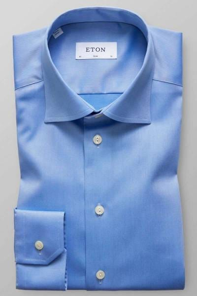 ETON Slim Fit Hemd blau, Einfarbig
