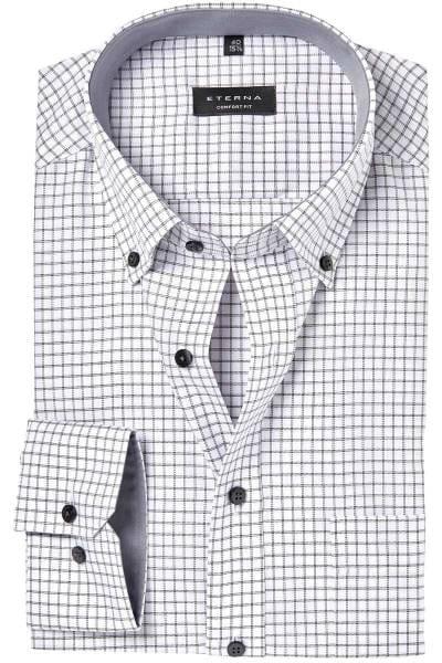 ETERNA Comfort Fit Hemd graphit/weiss, Kariert