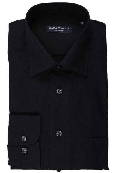 Casa Moda Comfort Fit Hemd schwarz, Einfarbig