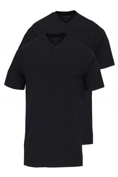 Casa Moda T-Shirt - V-Ausschnitt - schwarz, Einfarbig