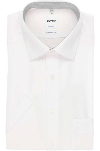 OLYMP Tendenz Modern Fit Hemd weiss, Faux-uni