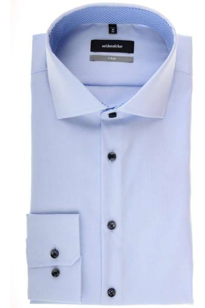 Seidensticker X-Slim Hemd hellblau, Einfarbig