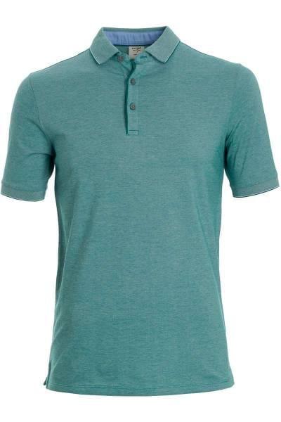 OLYMP Level Five Body Fit Poloshirt grün, Einfarbig