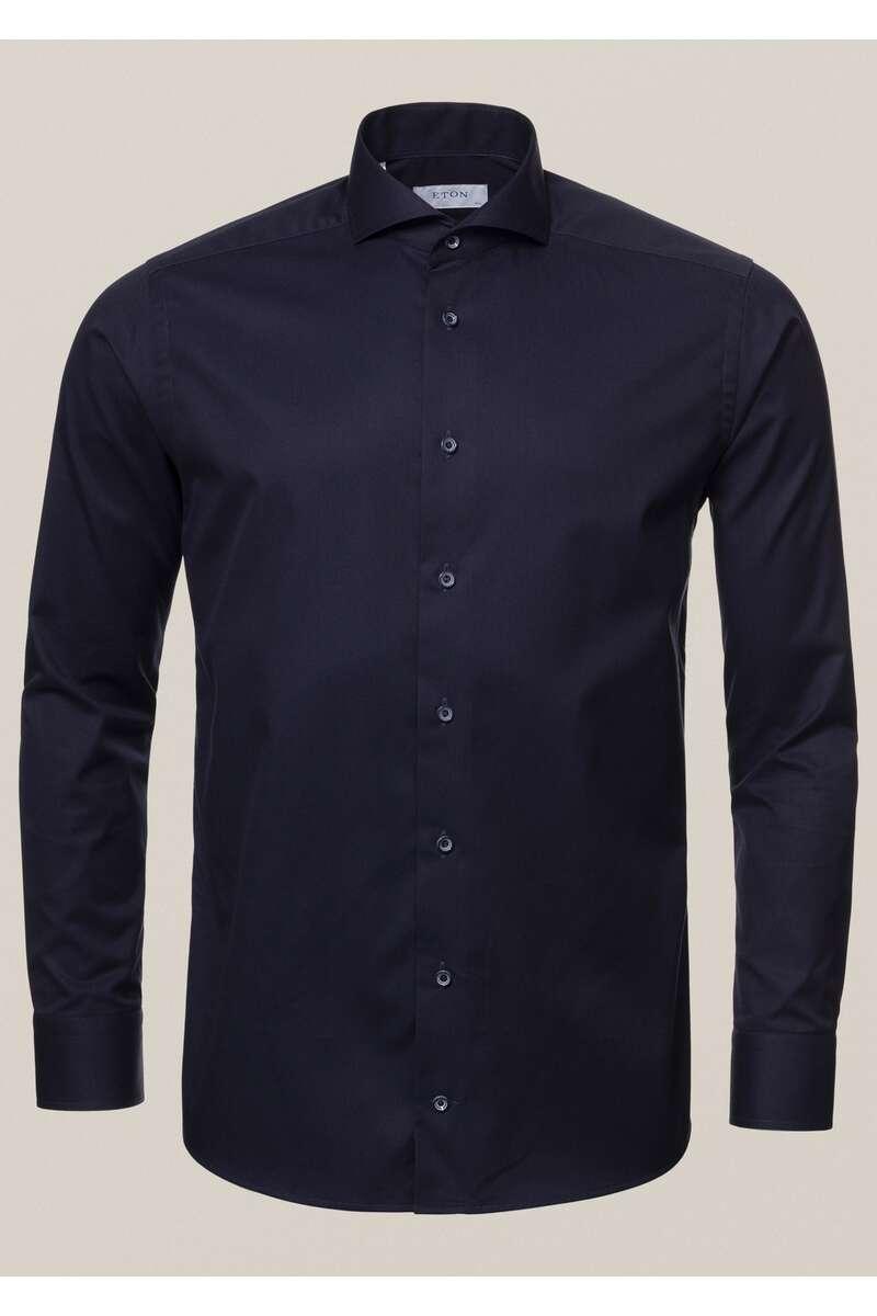 ETON Slim Fit Hemd marine, Einfarbig 42 - L