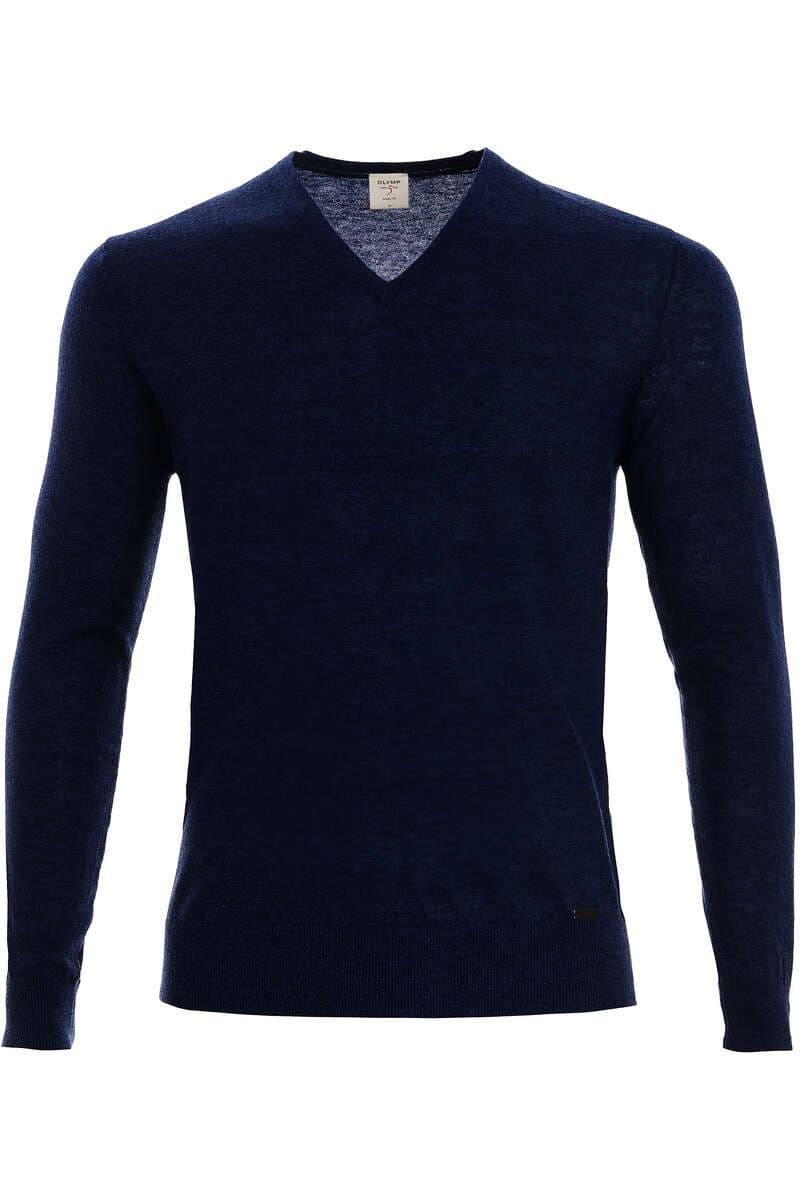 Olymp Strickpullover Level 5 Five Body Fit - marine