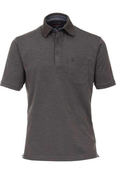hochwertiges casa moda poloshirt in der farbe anthrazit zweifarbig das polo hemd ist. Black Bedroom Furniture Sets. Home Design Ideas