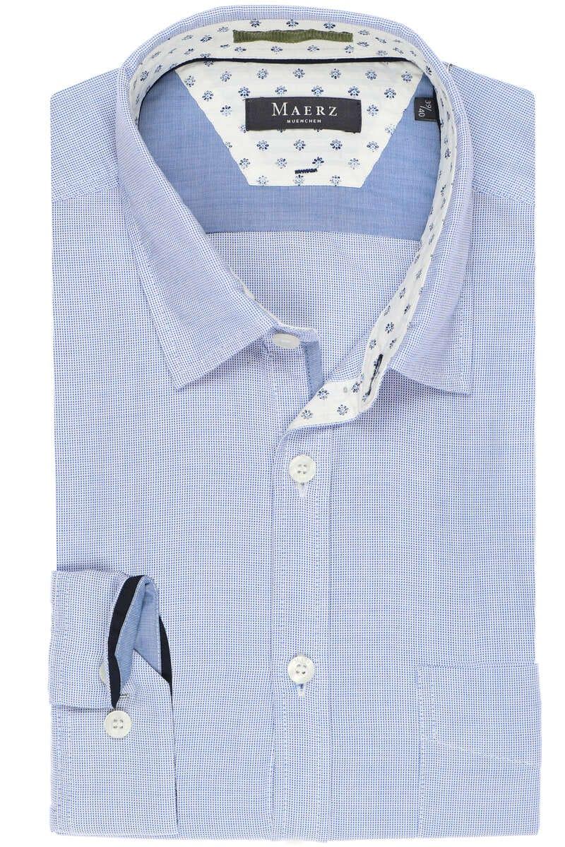 Maerz Classic Fit Hemd blau/weiss, Gepunktet M