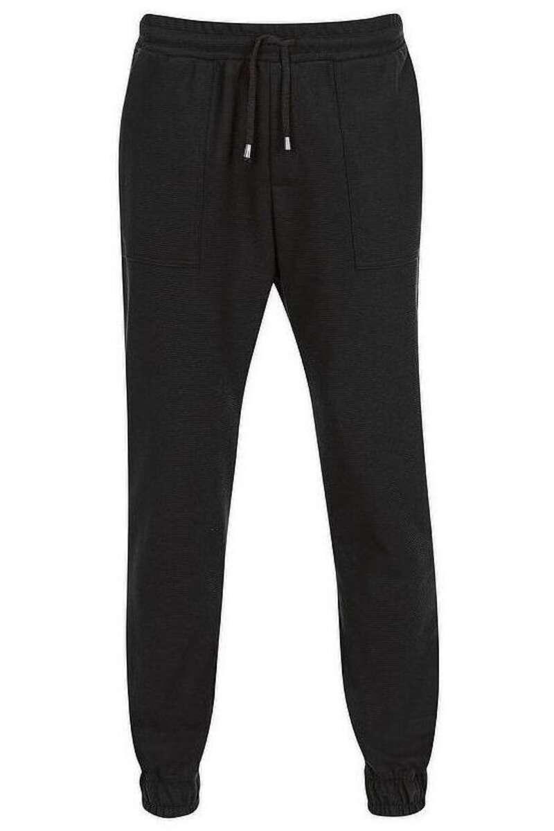 TRIGEMA Comfort Fit Jogginghose schwarz, einfarbig M