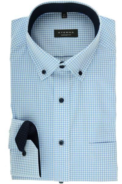 cd3f65da6092 Hochwertiges ETERNA Comfort Fit Hemd in der Farbe hellblau weiss ...