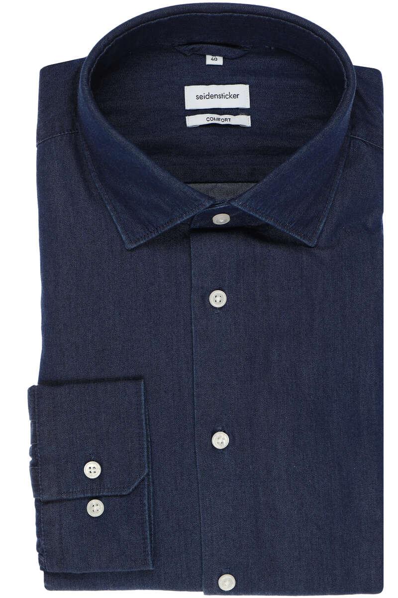 Seidensticker Comfort Fit Hemd jeans, Einfarbig 39 - M