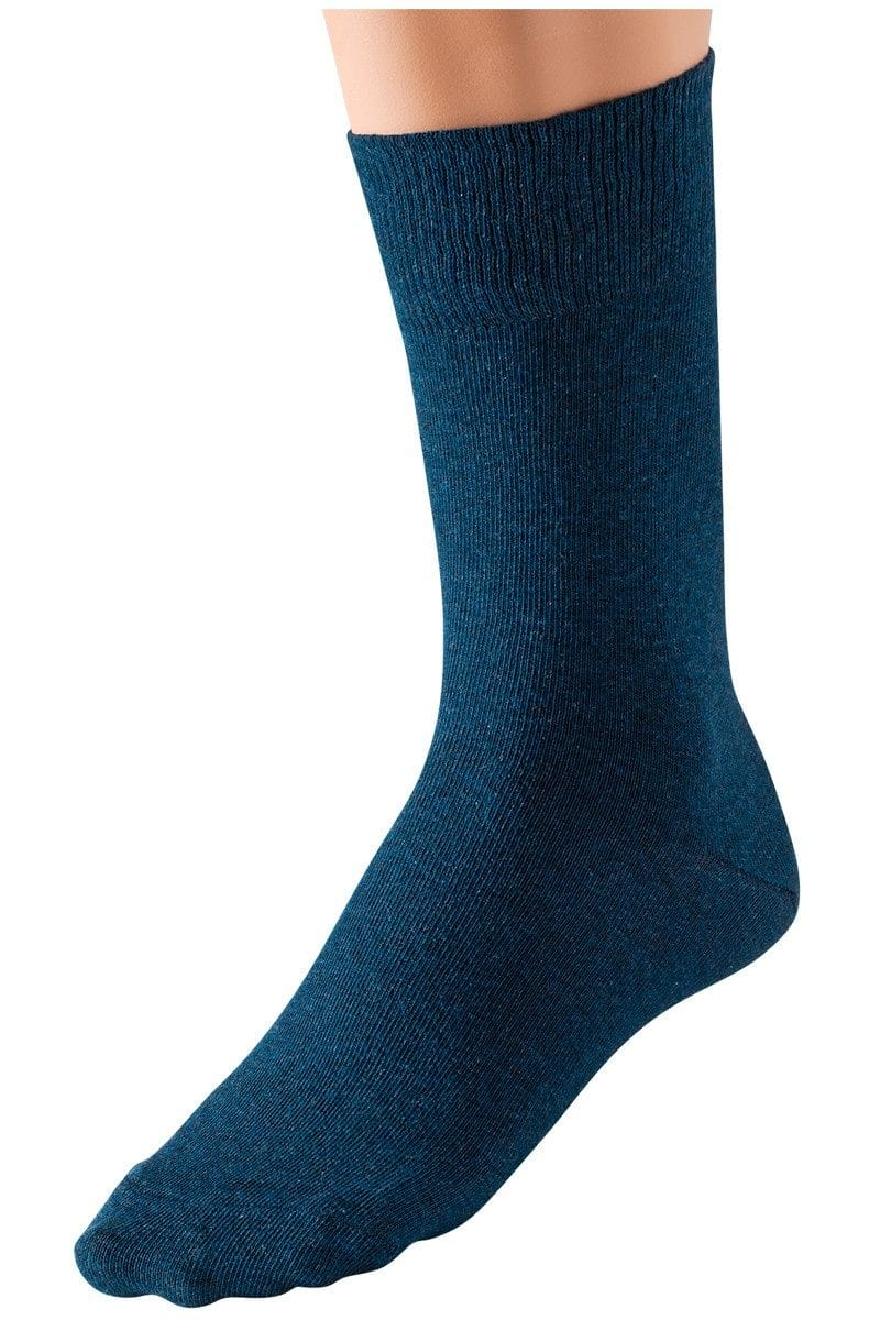 Schiesser Socken - blau - 77% Baumwolle / 20% Polyamid / 3% Elastan