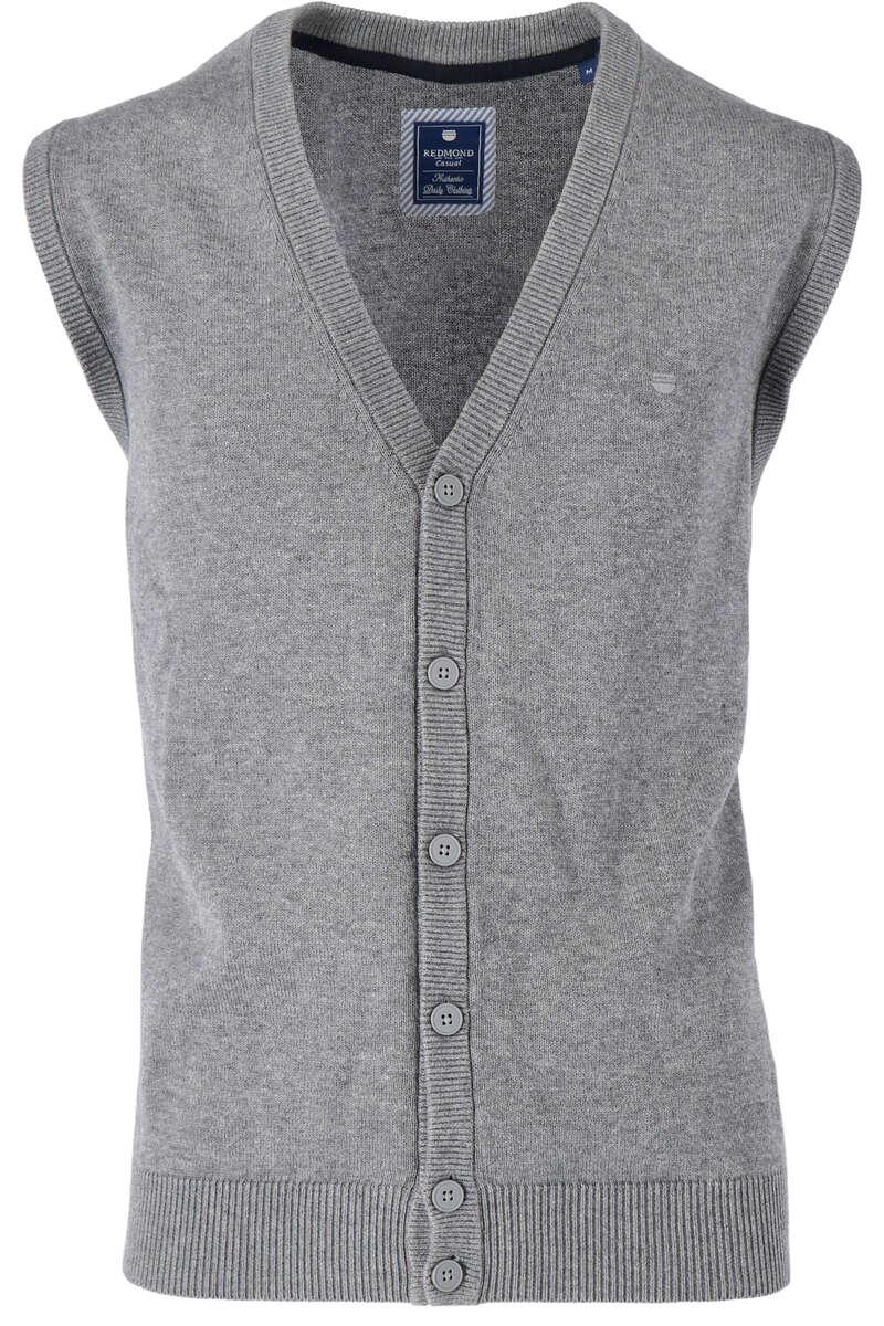 Redmond Strickweste V-Ausschnitt grau, melange S