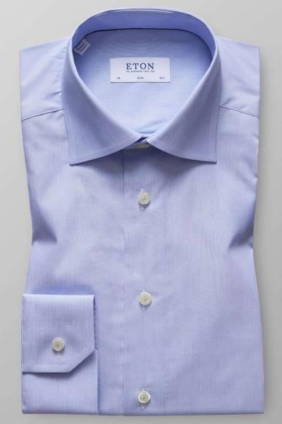 ETON Slim Fit Hemd hellblau/weiss, Feinstreifen