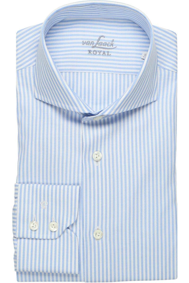 Van Laack Tailor Fit Hemd weiss/blau, Gestreift 39 - M