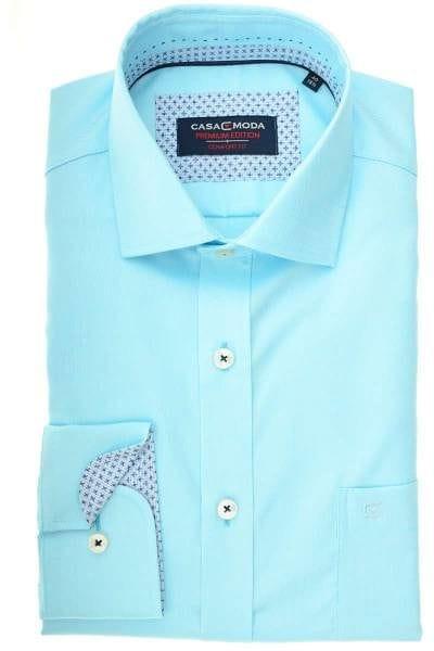Casa Moda Comfort Fit Hemd türkis, Strukturiert