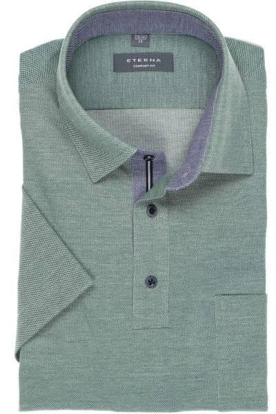 ETERNA Comfort Fit Poloshirt grün, Einfarbig