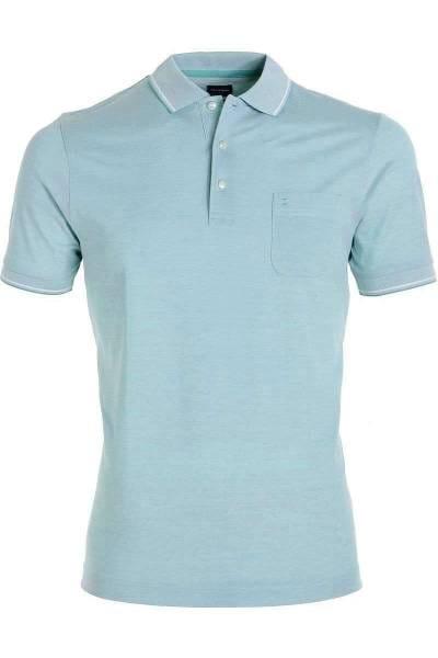 OLYMP Modern Fit Poloshirt hellblau, melange