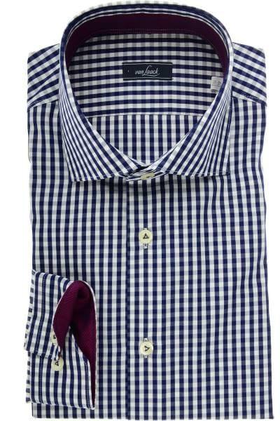 van Laack Slim Fit Hemd blau/weiss, Vichykaro