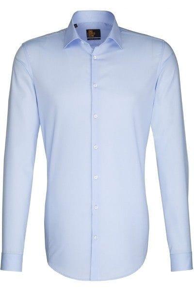 Seidensticker Hemd - Slim Fit - hellblau, Einfarbig