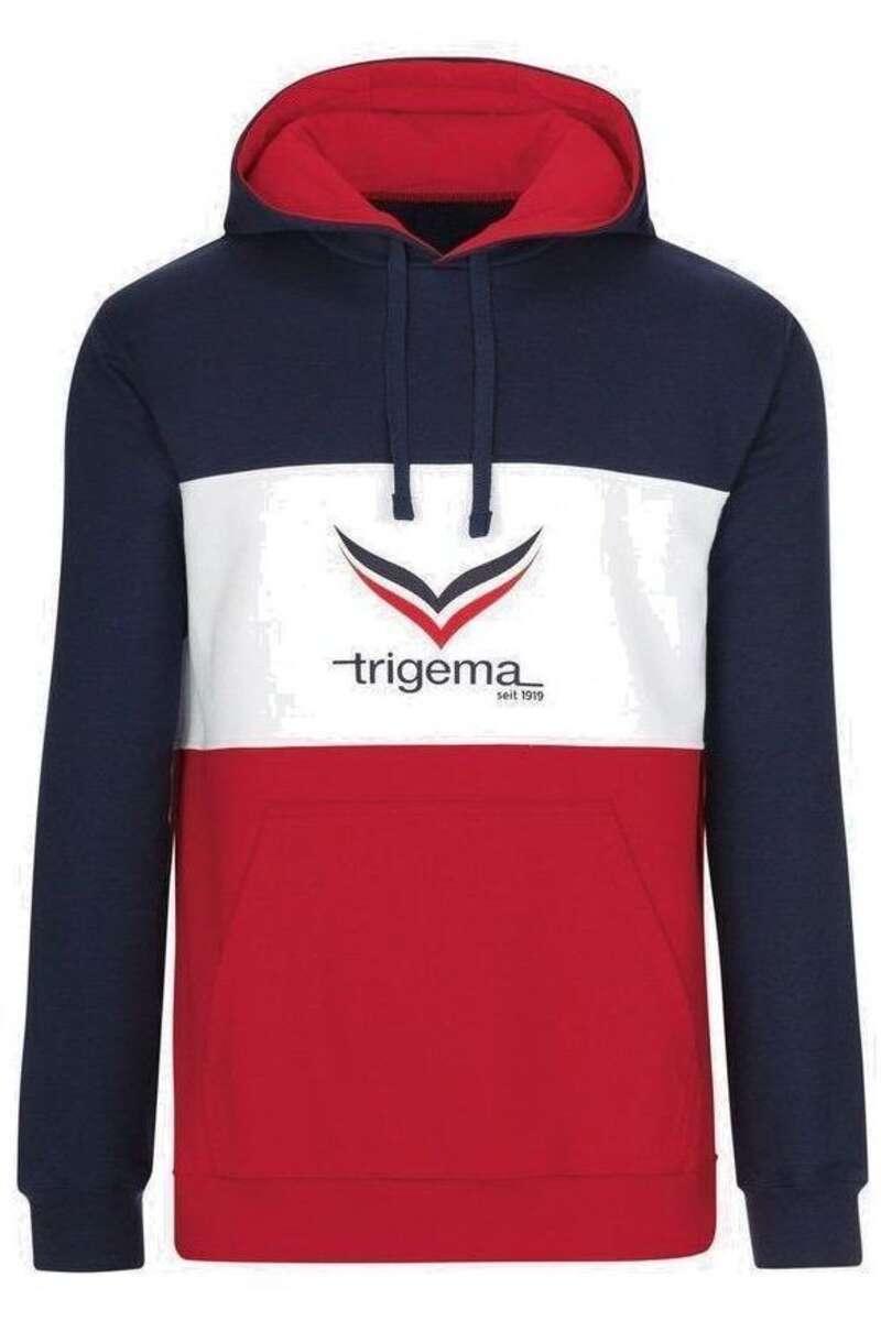 TRIGEMA Comfort Fit Kapuzen Sweatshirt navy, einfarbig M