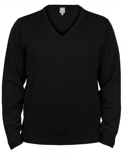 MAERZ Strickpullover V-Ausschnitt Pullover - schwarz