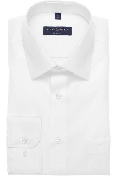 Casa Moda Hemd - Comfort Fit - weiss, Einfarbig