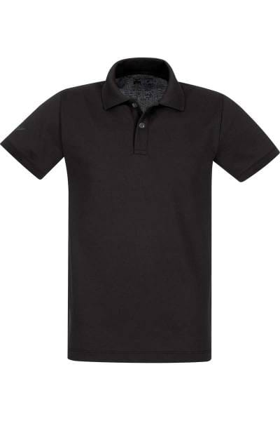 TRIGEMA Poloshirt - Polo, Slim Fit - schwarz, Einfarbig