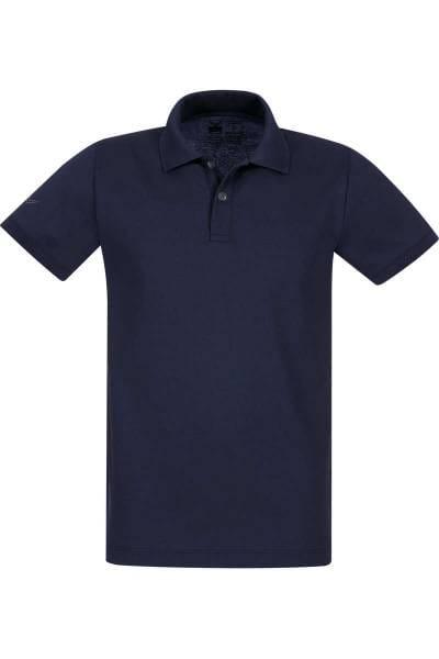 TRIGEMA Poloshirt - Polo, Slim Fit - dunkelblau, Einfarbig