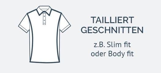Poloshirts tailliert geschnitten