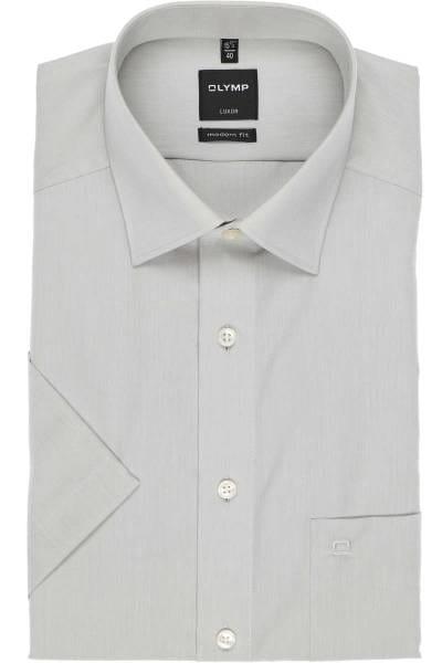 Olymp Hemd - Modern Fit - silbergrau, Einfarbig
