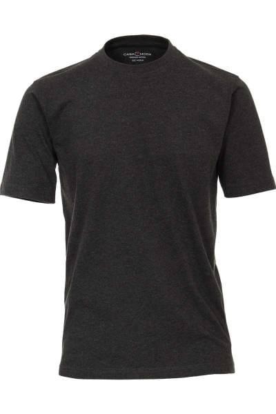 Casa Moda T-Shirt Rundhals anthrazit, einfarbig